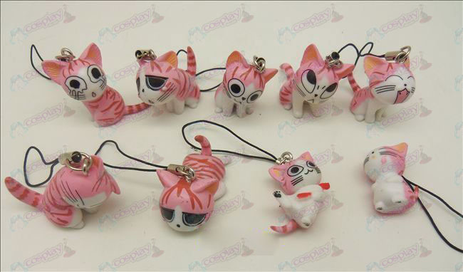 9 Sweet Cat Αξεσουάρ Strap Toy Machine (Pink)