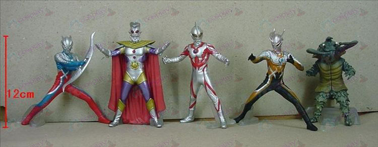 5 Generation 5 μοντέλα Superman Ultraman Αξεσουάρ Base (506)