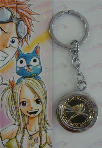 Black Steel Keychain Fairy Tail Αξεσουάρ χρυσό