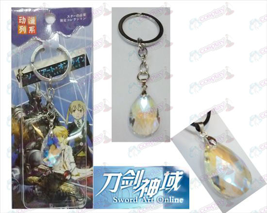 Sword Art on-line Αξεσουάρ Yui White Crystal Heart Keychain