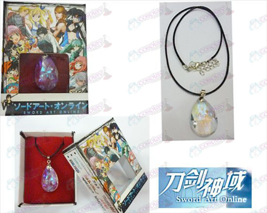 Sword Art on-line Αξεσουάρ Yui White Crystal Heart Box Κολιέ