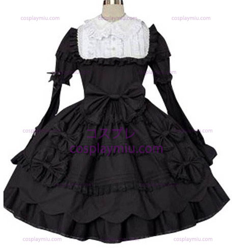 Black And White Classic Φόρεμα Cosplay Lolita