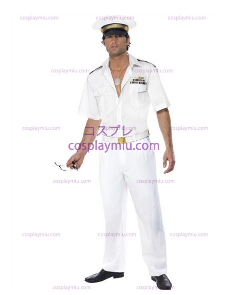 Mens Top Gun Captain Airforce Fancy Κοστούμια Dress