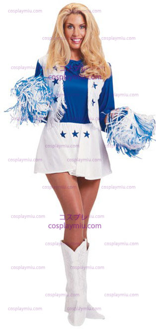 Dallas Cheerleader Cowboy Στολή Adult