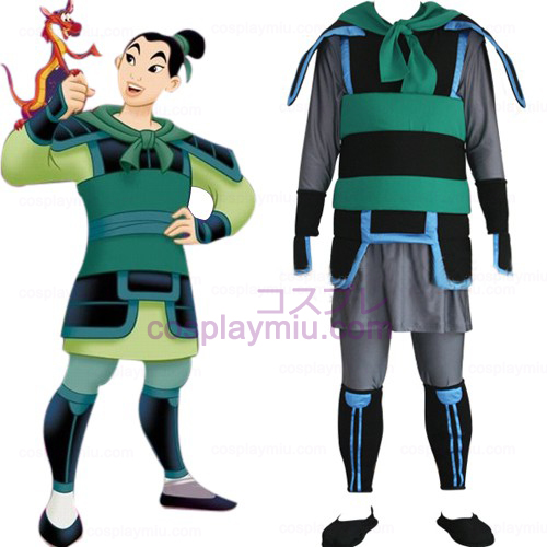 Kingdom Hearts 2 Mulan Κοστούμια Cosplay Men